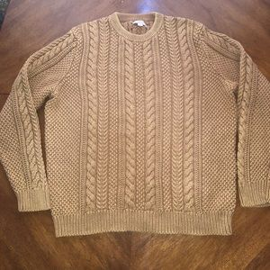 WALLACE & BARNES Crew neck cable knit XXL